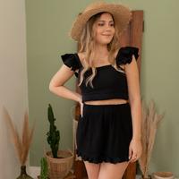 vaatteet Naiset Shortsit / Bermuda-shortsit Céleste MAGNOLIA Musta
