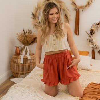 vaatteet Naiset Shortsit / Bermuda-shortsit Céleste MAGNOLIA Ruskea