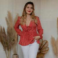 vaatteet Naiset Topit / Puserot Céleste ROSSIGNOL Punainen / Monivärinen