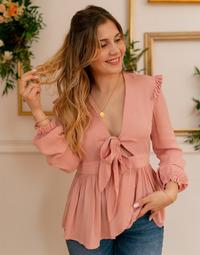 vaatteet Naiset Topit / Puserot Céleste ROSSIGNOL Vaaleanpunainen