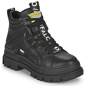 kengät Naiset Bootsit Buffalo ASPHA NC MID Musta