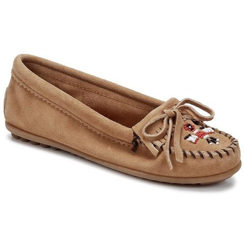 kengät Naiset Mokkasiinit Minnetonka THUNDERBIRD II Taupe