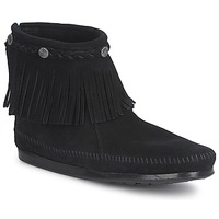 kengät Naiset Bootsit Minnetonka HI TOP BACK ZIP BOOT Black