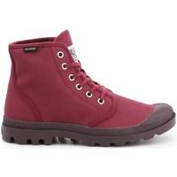 kengät Naiset Korkeavartiset tennarit Palladium Manufacture Pampa HI Oryginale Kirsikanpunaiset