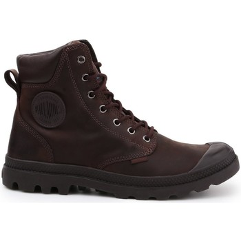 kengät Naiset Korkeavartiset tennarit Palladium Manufacture Pampa Cuff WP Lux Ruskeat