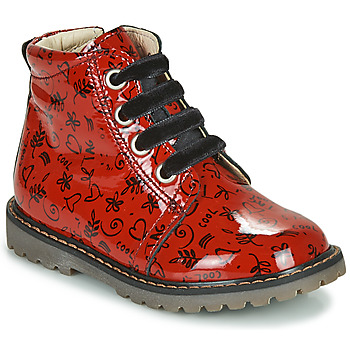 kengät Tytöt Korkeavartiset tennarit GBB NAREA Punainen