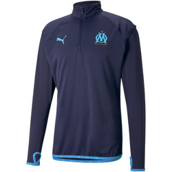 vaatteet Miehet Ulkoilutakki Puma Sweat OM Warmup bleu foncé/bleu azur