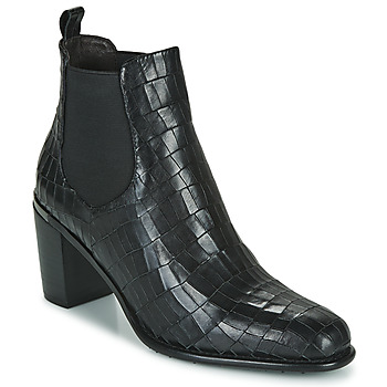 kengät Naiset Nilkkurit Adige FANNY V5 CROCO NOIR Musta