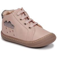 kengät Tytöt Korkeavartiset tennarit GBB APOLOGY Vaaleanpunainen