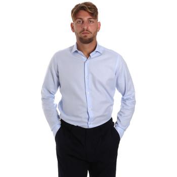 vaatteet Miehet Pitkähihainen paitapusero Les Copains 000.058 P3196SL Sininen
