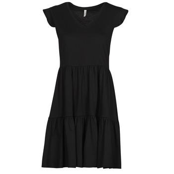 vaatteet Naiset Lyhyt mekko Only ONLMAY Musta