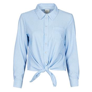 vaatteet Naiset Paitapusero / Kauluspaita Only ONLLECEY Sininen
