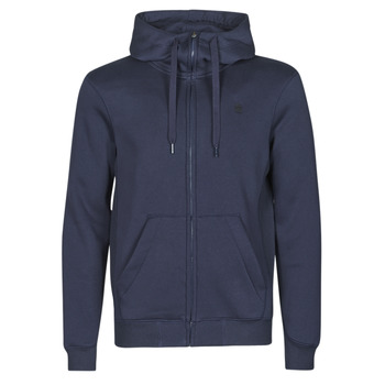 vaatteet Miehet Svetari G-Star Raw PREMIUM BASIC HOODED ZIP SWEATER Laivastonsininen