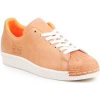 kengät Miehet Matalavartiset tennarit adidas Originals Adidas Superstar 80s Clean BA7767 brown, orange