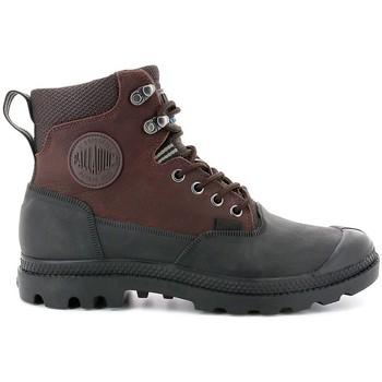 kengät Miehet Bootsit Palladium Manufacture Pampa Sport Cuff WP 20 Ruskeat