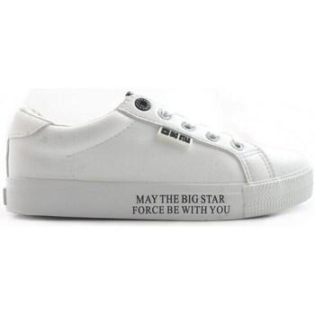 kengät Naiset Matalavartiset tennarit Big Star EE274316 Valkoiset
