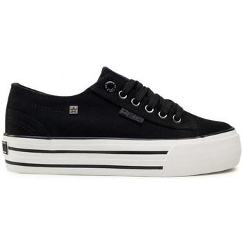kengät Naiset Matalavartiset tennarit Big Star HH274056 Valkoiset, Mustat