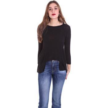 vaatteet Naiset T-paidat pitkillä hihoilla Dixie T340M028 Musta