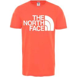 vaatteet Miehet Lyhythihainen t-paita The North Face NF0A4M7X Punainen