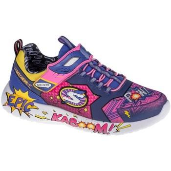 kengät Lapset Matalavartiset tennarit Skechers Dynamight Vaaleansiniset, Keltaiset, Vaaleanpunaiset