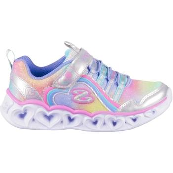 kengät Tytöt Matalavartiset tennarit Skechers Heart Lights Rainbow Lux Hopeanväriset, Vaaleansiniset, Vaaleanpunaiset