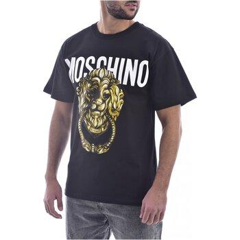 vaatteet Miehet Lyhythihainen t-paita Moschino ZA0716 Musta