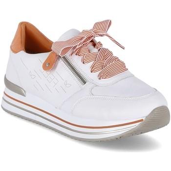 kengät Naiset Matalavartiset tennarit Remonte Dorndorf D131380 Valkoiset