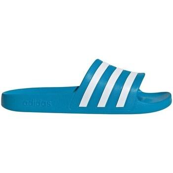 kengät Miehet Rantasandaalit adidas Originals Adilette Aqua Valkoiset, Turkoosit