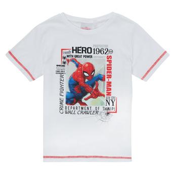 vaatteet Pojat Lyhythihainen t-paita TEAM HEROES  SPIDERMAN TEE Valkoinen