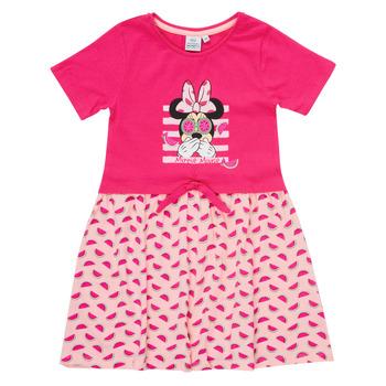 vaatteet Tytöt Lyhyt mekko TEAM HEROES  MINNIE DRESS Vaaleanpunainen