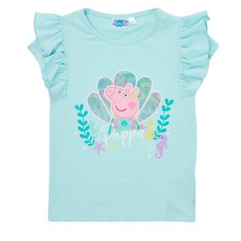 vaatteet Tytöt Lyhythihainen t-paita TEAM HEROES  PEPPA PIG TEE Sininen