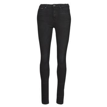 vaatteet Naiset Slim-farkut Only ONLPAOLA Musta