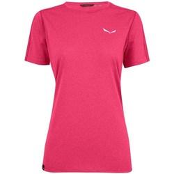 vaatteet Naiset Lyhythihainen t-paita Salewa Pedroc 3 Dry W Vaaleanpunaiset