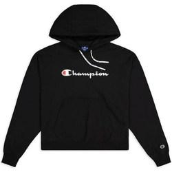 vaatteet Naiset Svetari Champion Hooded Sweatshirt Nbk Mustat