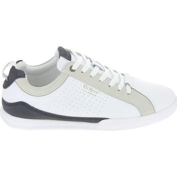 kengät Miehet Matalavartiset tennarit Kickers Tampa Blanc Bleu Valkoinen