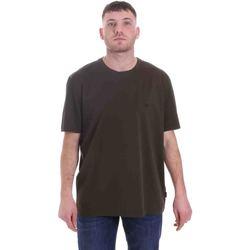 vaatteet Miehet Lyhythihainen t-paita Calvin Klein Jeans K10K105575 Vihreä