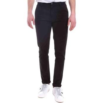 vaatteet Miehet Chino-housut / Porkkanahousut Gaudi 021GU25014 Musta