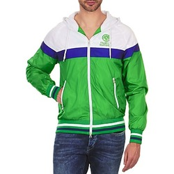 vaatteet Miehet Pusakka Franklin & Marshall MELBOURNE Vihreä / Valkoinen / Sininen