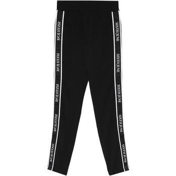 vaatteet Naiset Verryttelyhousut Sixth June Legging  bande imprimée noir/blanc
