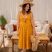 vaatteet Naiset Pitkä mekko Céleste CAMOMILLE Keltainen
