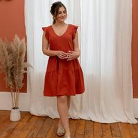 vaatteet Naiset Lyhyt mekko Céleste DAHLIA Ruskea