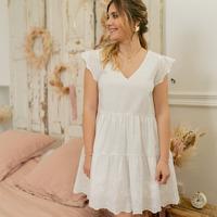 vaatteet Naiset Lyhyt mekko Céleste DAHLIA Valkoinen