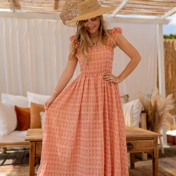vaatteet Naiset Pitkä mekko Céleste AURORE Vaaleanpunainen