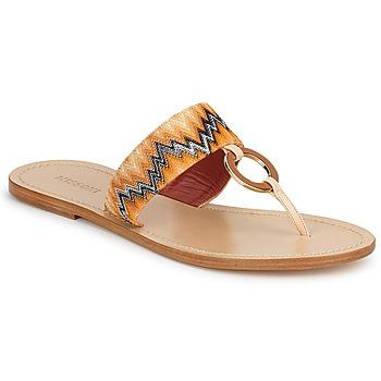 kengät Naiset Varvassandaalit Missoni VM048 Oranssi