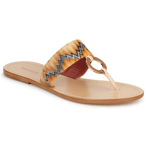 kengät Naiset Varvassandaalit Missoni VM048 Orange