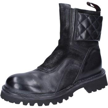 kengät Naiset Nilkkurit Moma Stivaletti Pelle Camoscio Nero