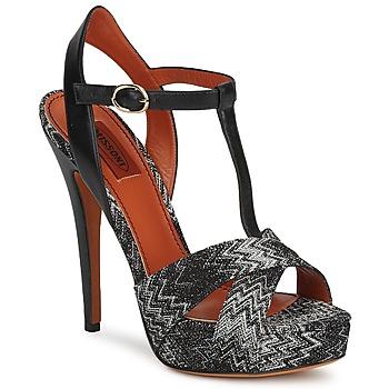 kengät Naiset Sandaalit ja avokkaat Missoni VM034 Musta / Valkoinen