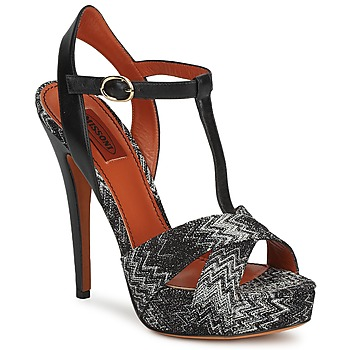 kengät Naiset Sandaalit ja avokkaat Missoni VM034 Black / White