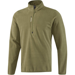 vaatteet Miehet Ulkoilutakki Reebok Sport Fitness Outdoor Fleece Quarter Zip Vihreä