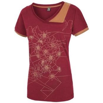vaatteet Naiset Lyhythihainen t-paita Salewa 251661651 Kirsikanpunaiset